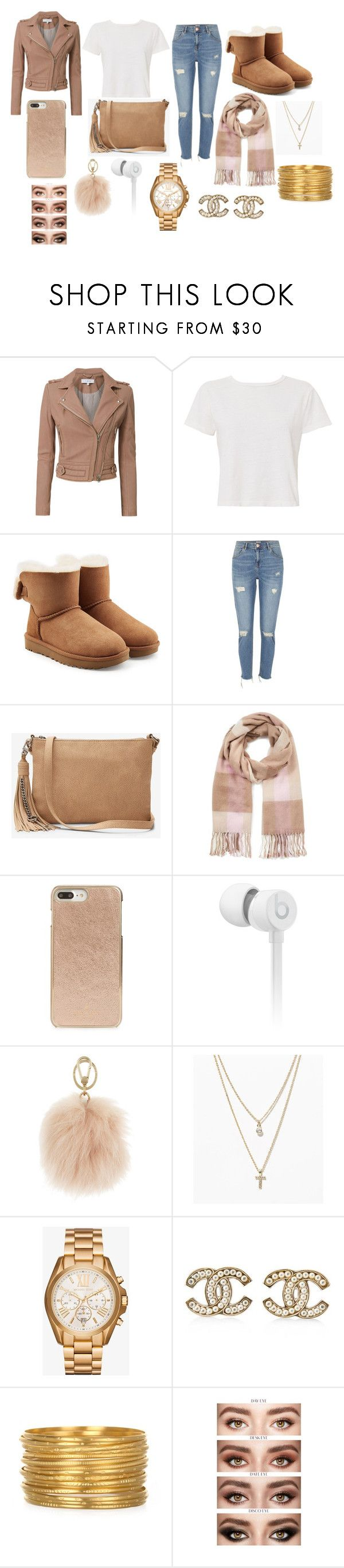 """Carnival Outfit"" by leyaatierra ❤ liked on Polyvore featuring IRO, RE/DONE, UGG, River Island, Express, Miss Selfridge, Kate Spade, Beats by Dr. Dre, Furla and LOFT"