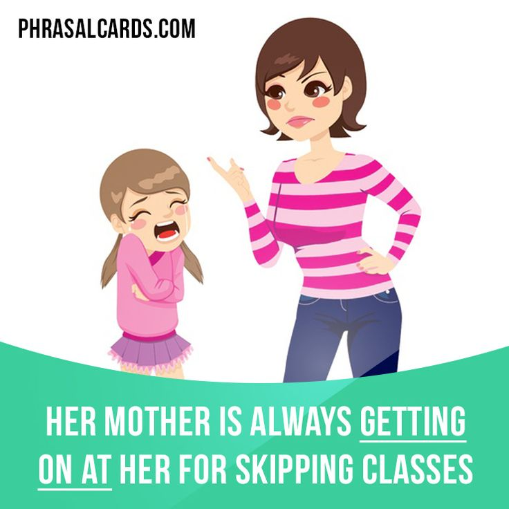 """Get on at"" means ""to criticize someone"". Example: Her mother is always getting on at her for skipping classes. #phrasalverb #phrasalverbs #phrasal #verb #verbs #phrase #phrases #expression #expressions #english #englishlanguage #learnenglish #studyenglish #language #vocabulary #dictionary #grammar #efl #esl #tesl #tefl #toefl #ielts #toeic #englishlearning"