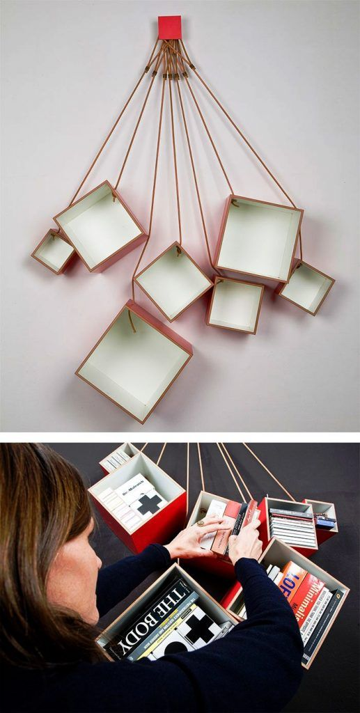 Rak Buku Desain Unik Kreatif
