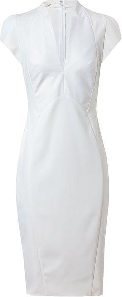 ANTONIO BERARDI Tailored Neoprene Pencil Dress - Lyst
