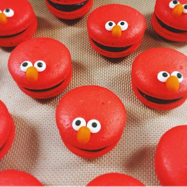Macarons super divertidos por @jess_marvelous #kikidsparty #sesamestreet: