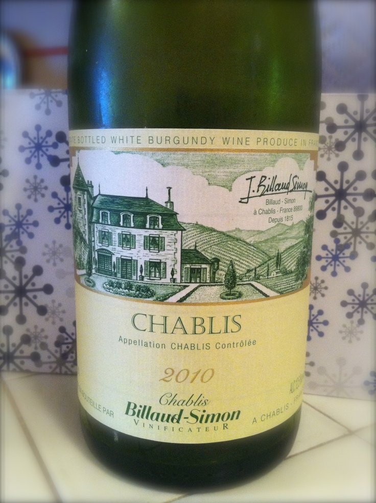 Billaud-Simon Chablis 2011 - affordable chardonnay from Burgundy