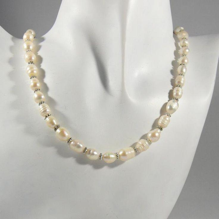 Echte Perlenkette, Geschenk für Sie von RSSchmuckwelt auf Etsy #freshwaterpearls #bridaljewelry #necklace