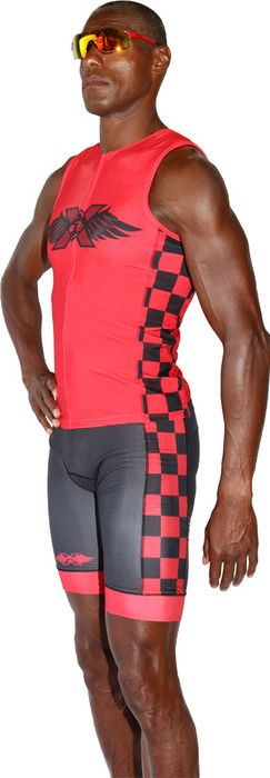 TRILAB Mens Red RacerX Tri Shorts