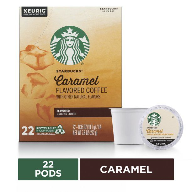 Starbucks Christmas Flavored Kcups 2021 Starbucks Caramel Flavored Medium Roast Single Cup Coffee For Keurig Brewers 1 Box Of 22 22 Total K Cup Pods Walmart Com In 2021 Starbucks Caramel Vanilla Flavoring Coffee Flavor