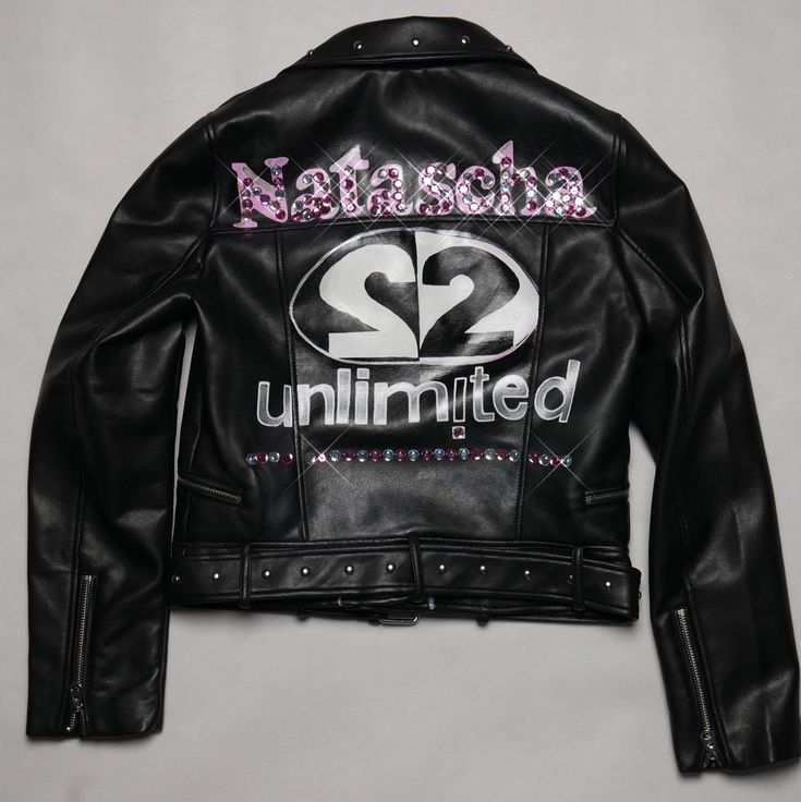 2 Unlimited Jackets, Hand-Painted Jacket , Hand-crafted, Custom Made Biker Jacket, Custom Leather Jacket, Me for 2 Unlimited