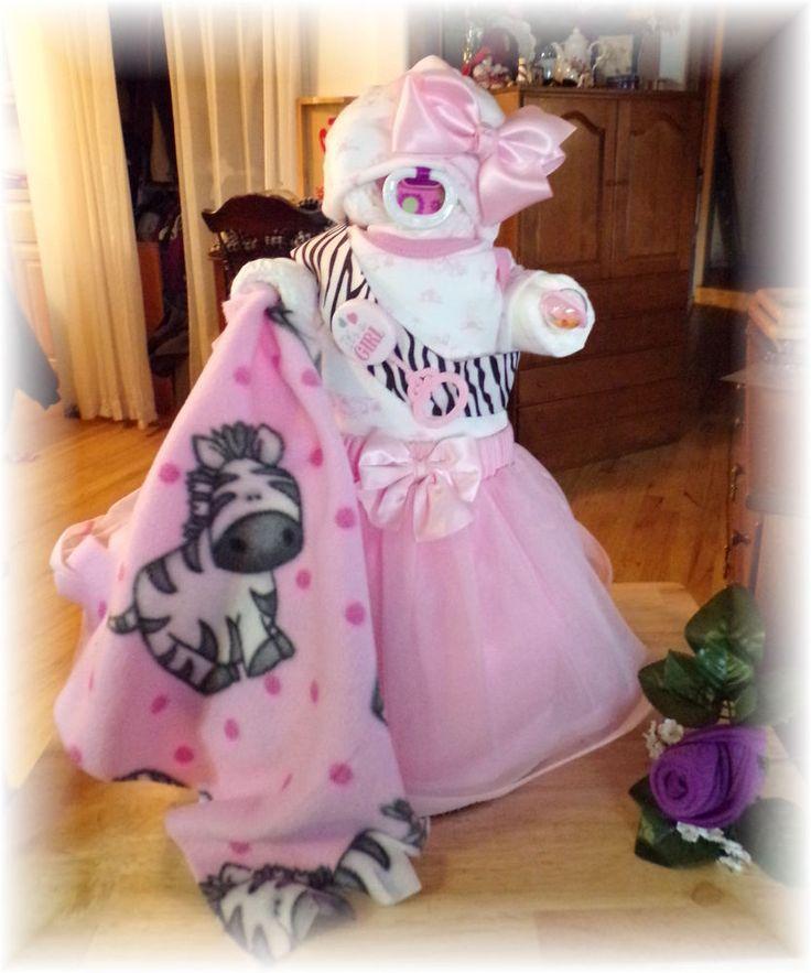 Baby Shower Girls Diaper Cake 034 Baby Bellah 034   eBay