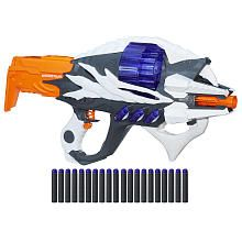 Aliens are battling their way through the universe searching for worlds to conquer! Who will be next? Blast into extraterrestrial action with the NERF Alien Menace Incisor blaster! This motorized blaster has a revolving, 20-dart drum for rapid-fire blasting. Comes with 20 Elite foam darts.  The NERF Alien Menace Incisor Blaster Features:  Motorized blasting  Revolving, 20-dart drum  Comes with 20 Elite foam darts Includes blaster, 20 darts...