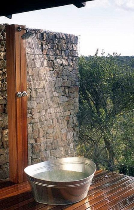 The luxury of an outdoor shower in the garden - inspired by these 24 uteduschar - Comfortable home