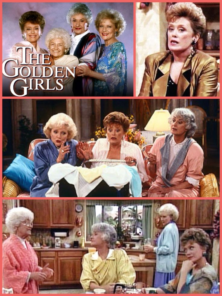 "****See separate board entitled, ""TV - The Golden Girls"",  for lots of pictures and quotes!  The Golden Girls (1985-1992) - Four mature women live together in Miami and experience the joys and angst of their golden years. Strong-willed Dorothy, spacey Rose, lusty Southern belle Blanche and matriarch Sophia, Dorothy's mom, occasionally clash but are there for one another in the end. The show's theme song is titled ""Thank You for Being a Friend."""