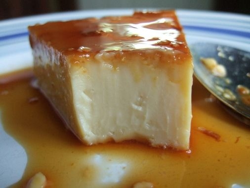 Leche Flan (using Whole Eggs) Recipe Desserts with white sugar, eggs, condensed milk, evaporated milk, vanilla, cream cheese, eggs