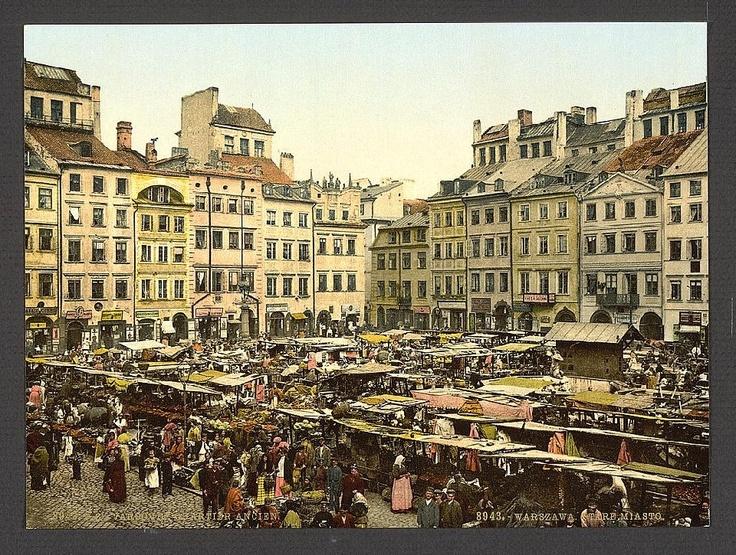 Rynek Warszawskiego Starego Miasta, ok. 1900 r.