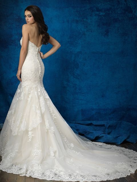 Allure Bridals 9376 Wedding Dress Curly For At Off Retail