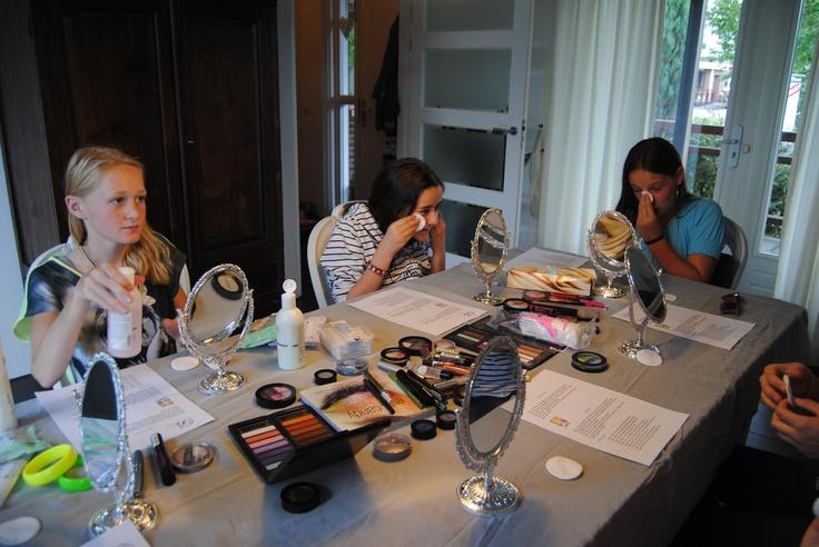 tiener make-up party