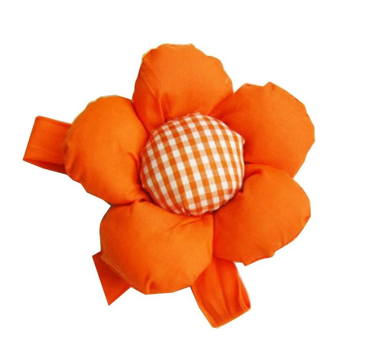 One Pairs Flower Curtain Tiebacks/Holdbacks Curtain Accessories Orange