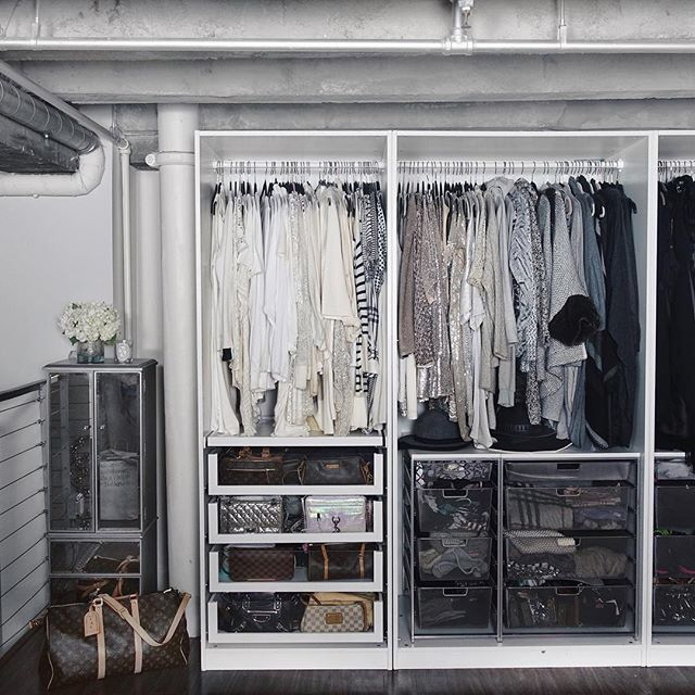 Carly Christman perfectly organized closet!                                                                                                                                                                                 More