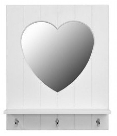 Add a lovely touch to the SilverSparkle theme with this heart mirror.