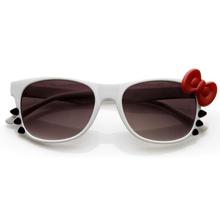 Kitty Cat Bow w/ Whiskers Novelty Sunglasses