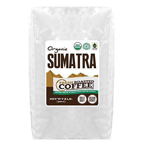 OFT Sumatra Coffee, Whole Bean, Fresh Roasted Coffee LLC (2 Lb.) - http://goodvibeorganics.com/oft-sumatra-coffee-whole-bean-fresh-roasted-coffee-llc-2-lb/