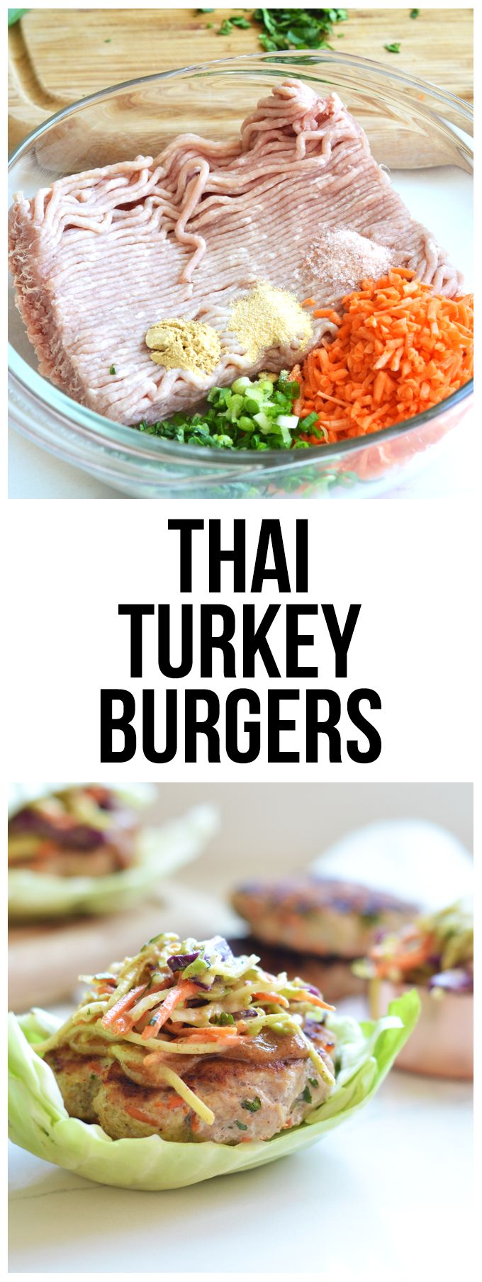 #ad These Thai Turkey burgers are bursting with flavor and are clean and Whole30 compliant! Perfect meal for summer!