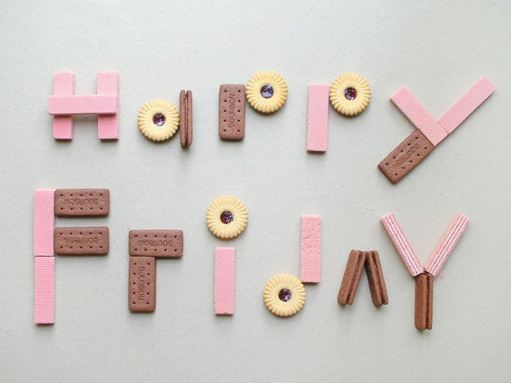Whimsical cookie typography