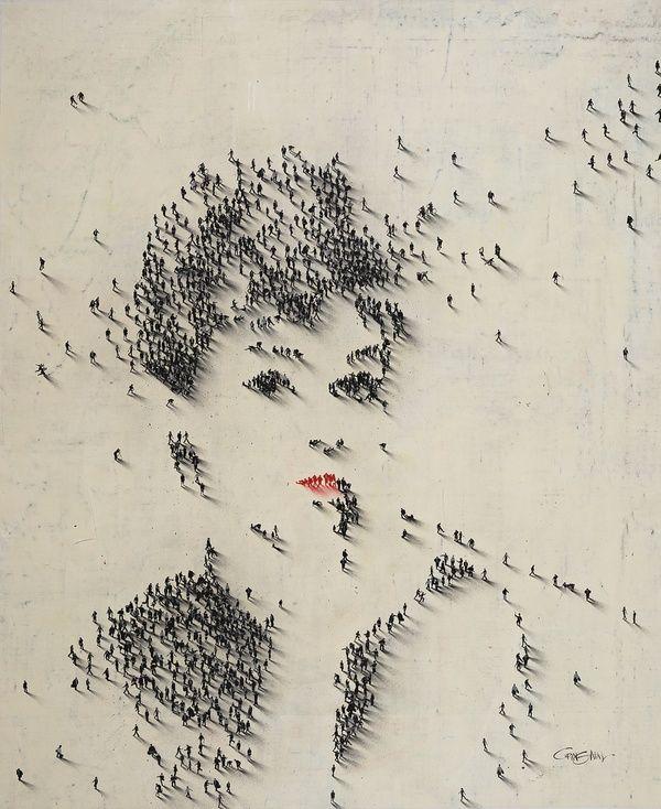 street - Craig Alan: Real People, Craig Alan, People Art, Audrey Hepburn, Street Art, Audreyhepburn, Breakfast At Tiffany, Used People, Streetart