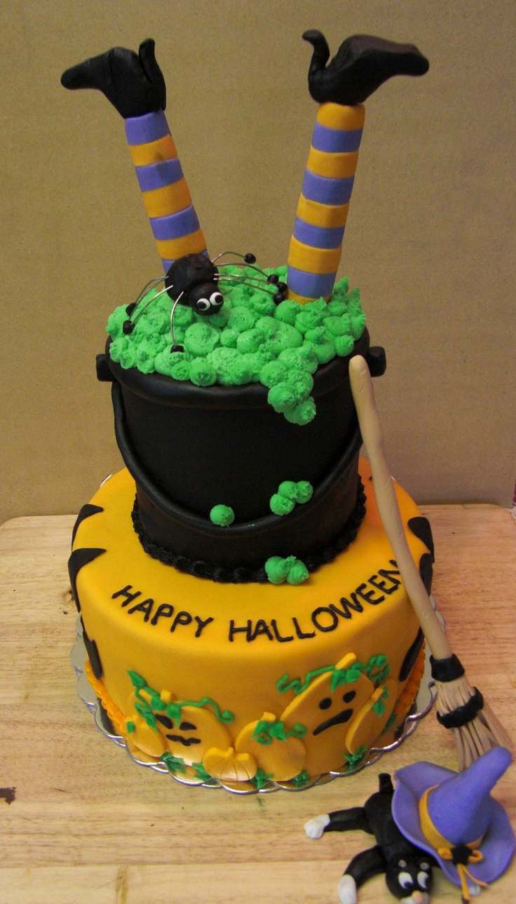 witches brew cake halloween