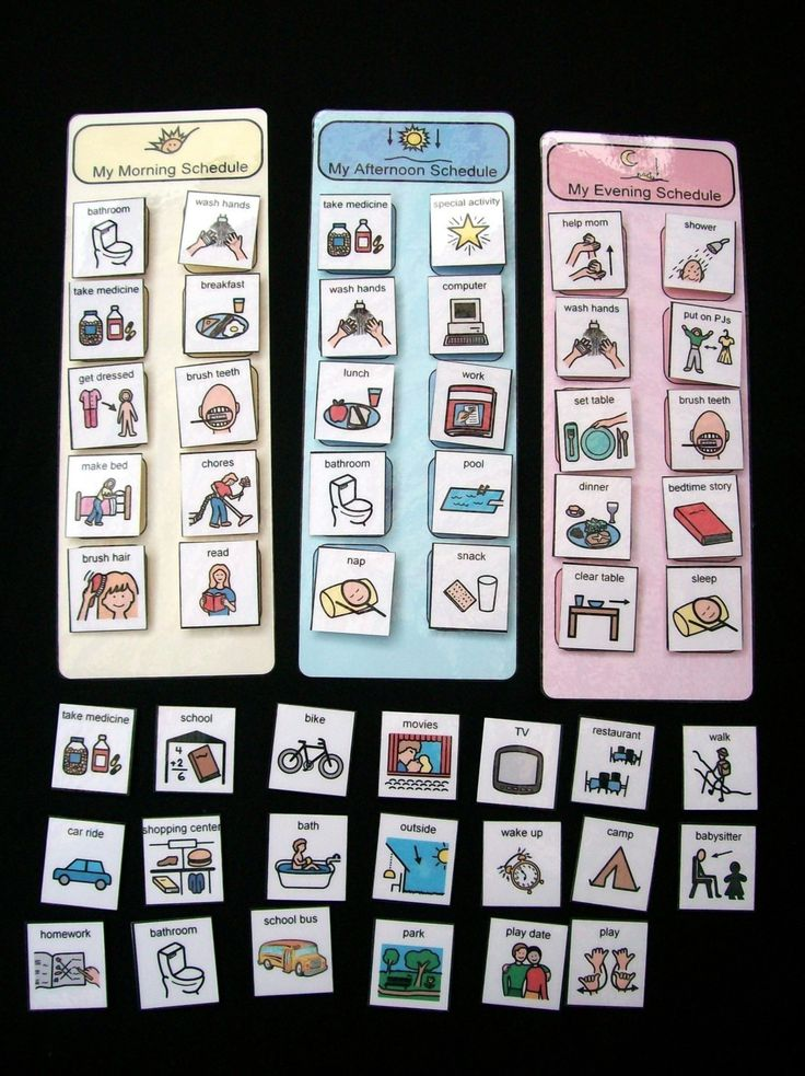 examples of visual schedules for autistic children | Our journey on the spectrum: In with the new!