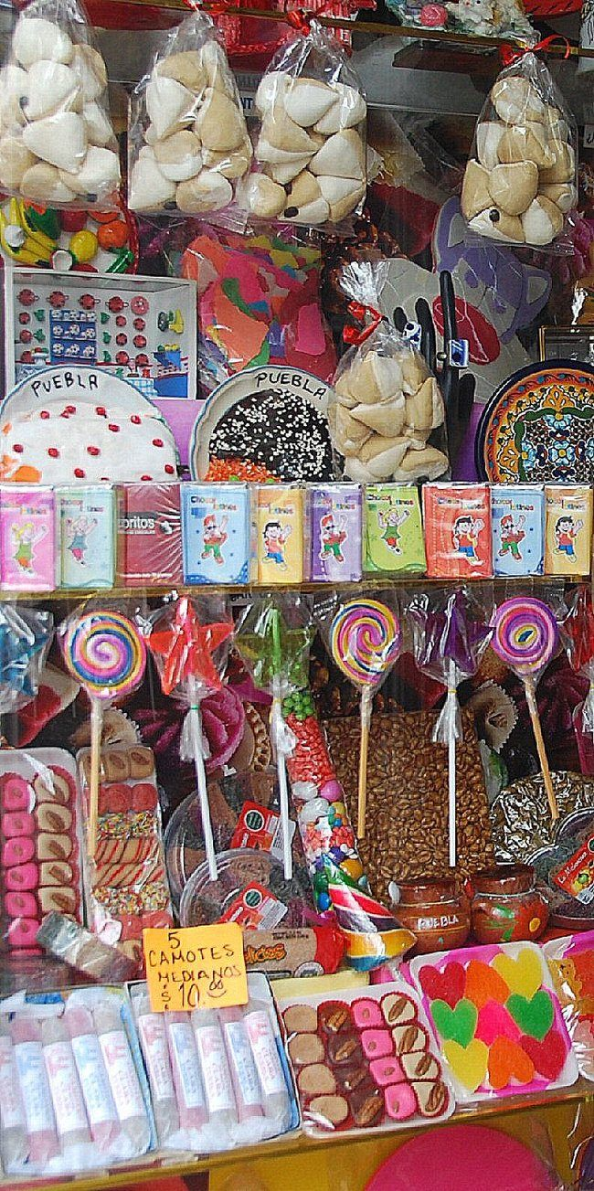 Calle de Los Dulces, Puebla, Mexico - A street filled with candies and sweets!