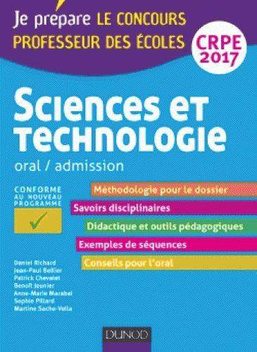 Sciences et technologie CRPE : oral / admission édition 2017 http://cataloguescd.univ-poitiers.fr/masc/Integration/EXPLOITATION/statique/recherchesimple.asp?id=195023846