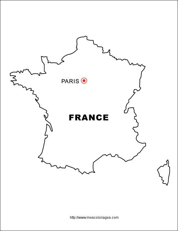 21 A Couper Le Souffle Carte De France A Colorier Stock Di 2020