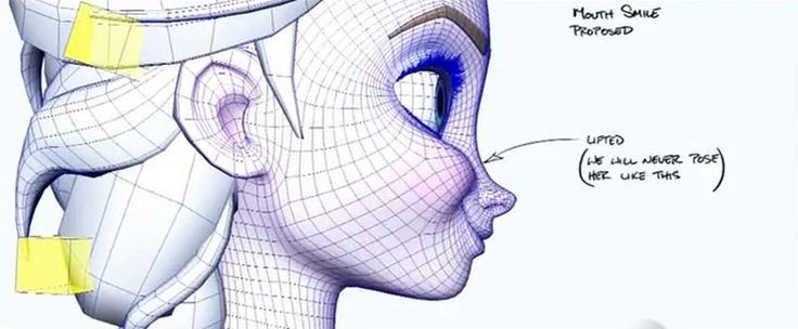 Elsa wireframe Frozen Disney topology