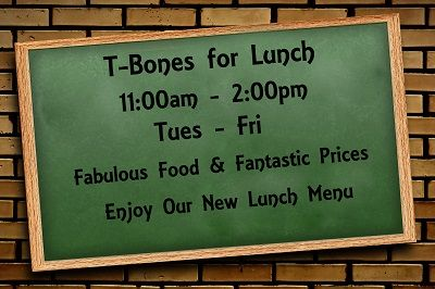 We are open for lunch Tues-Fri.