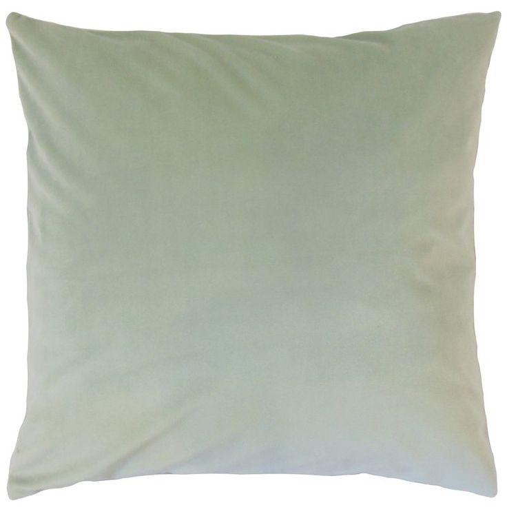 Markos Velvet Throw Pillow Steel