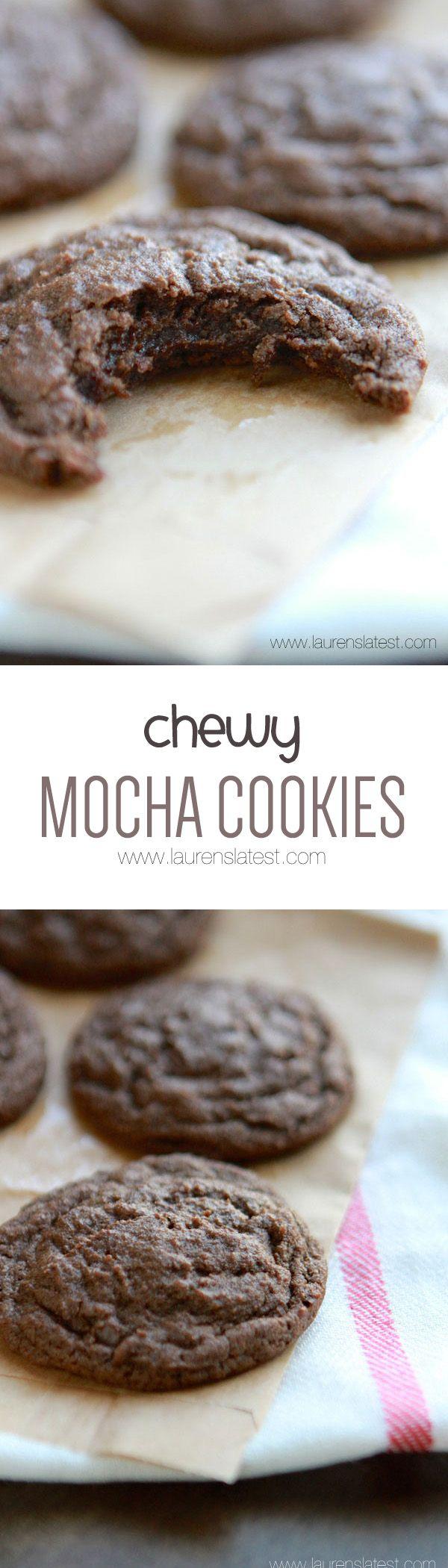 Chewy Mocha Cookies