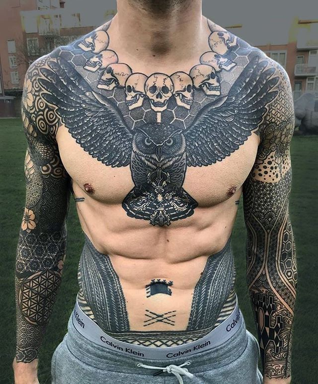 Nissaco Cool Chest Tattoos Tattoos For Guys Badass Chest Tattoo Men