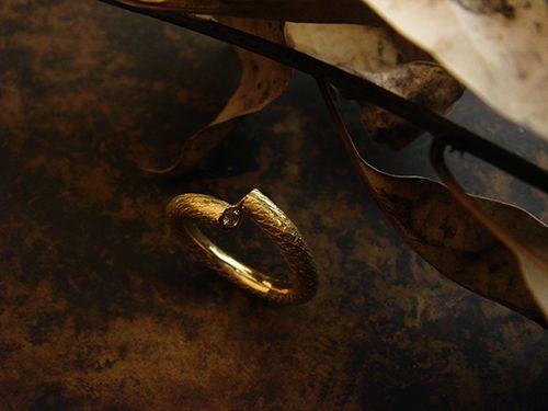 [Ancient Delusion : 010] Ring-K18YG/Diamond 0.11ct