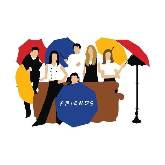Friends Vector Friends Illustration Friends Poster Friends Tv