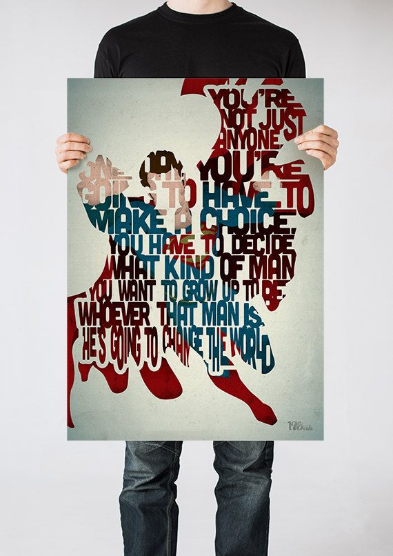 Hey, I found this really awesome Etsy listing at https://www.etsy.com/listing/175051381/superman-typography-print-based-on-a