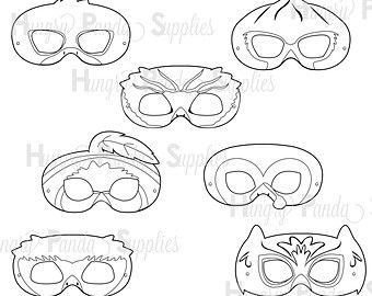 Woodland Forest Birds Printable Coloring Masks, turkey mask, owl mask, cardinal mask, bluebird mask, robin mask, duck mask, quail mask,print