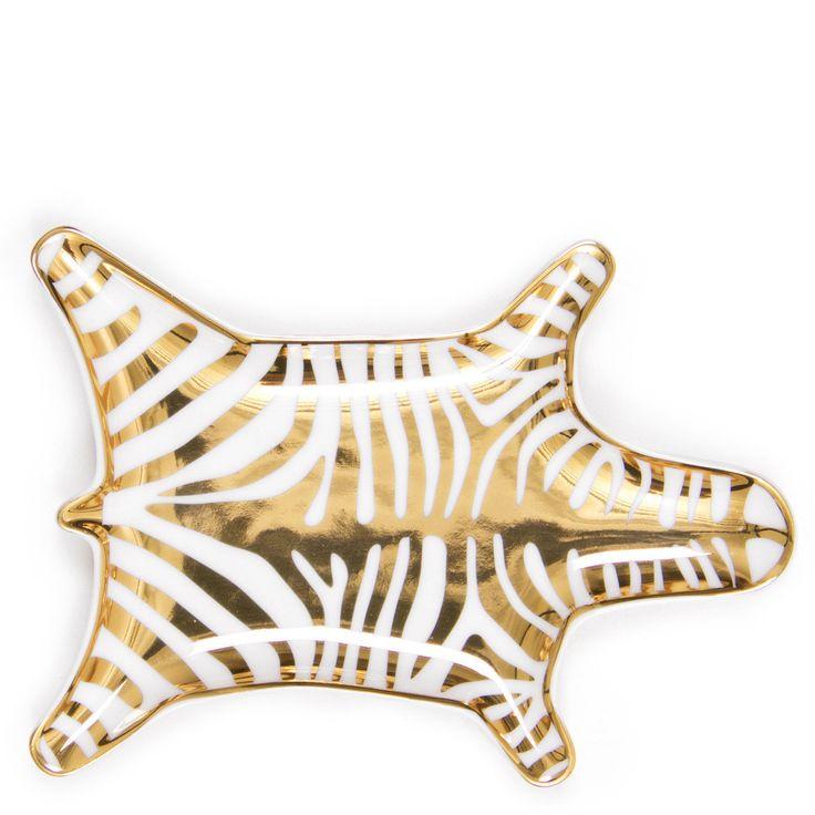 FURBISH Metallic Zebra Dish - gold $34.00