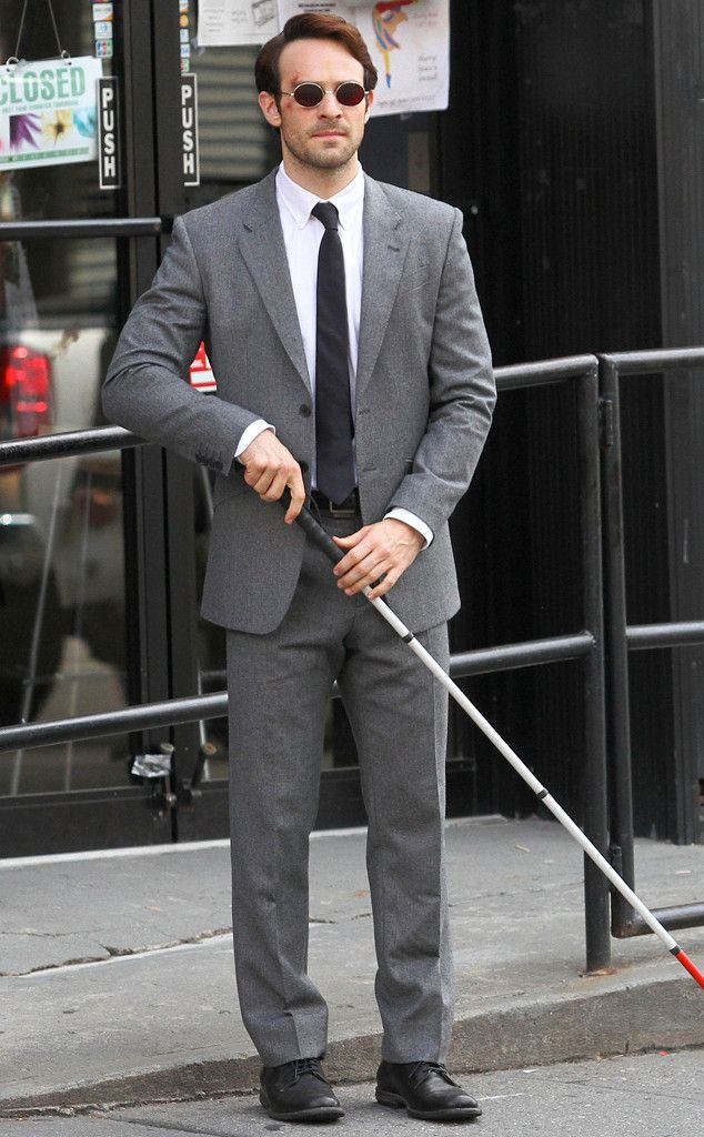Here's Daredevil! See Charlie Cox as Marvel's Matt Murdock in New Set Pics Charlie Cox