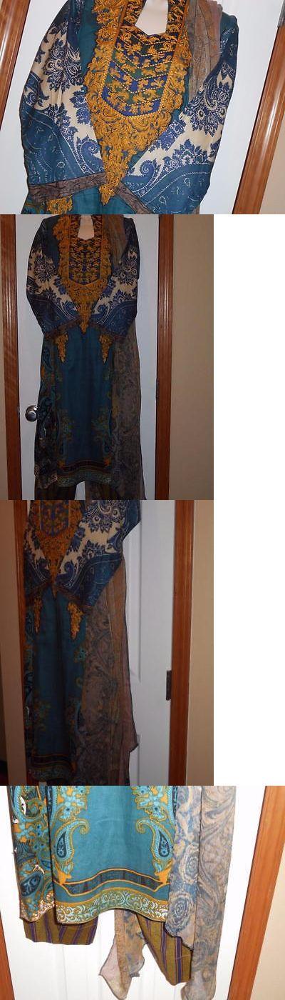 Salwar Kameez 155249: Bust 20 40 M L Lawn Embroid Pakistani Designer Inspired Salwar Kameez -> BUY IT NOW ONLY: $55 on eBay!