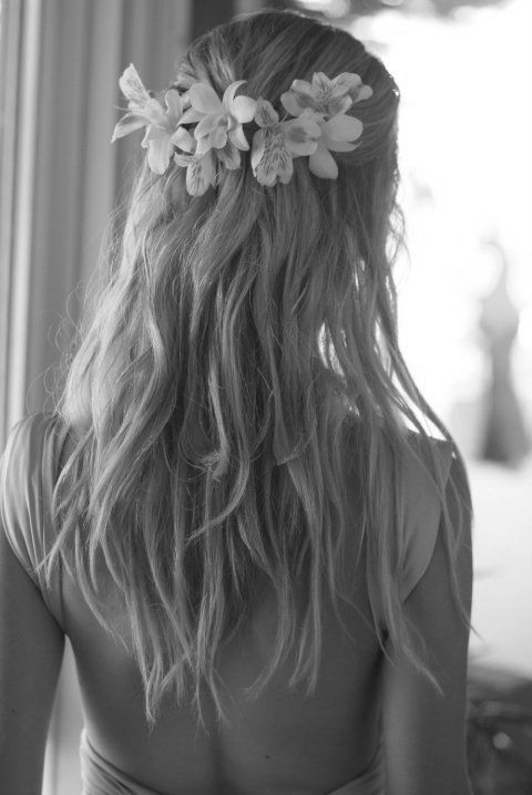 .: Hair Ideas, Weddinghair, Hairstyles, Wedding Hair, Hair Styles, Wedding Ideas, Beauty, Beach Wedding, Flower