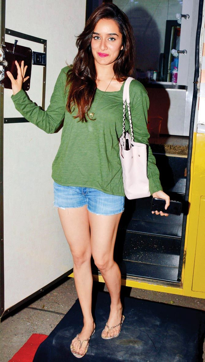 Shraddha Kapoor outside a film studio post an ad shoot. #Bollywood #Fashion #Style #Beauty #Hotpants #Sexy #Cute