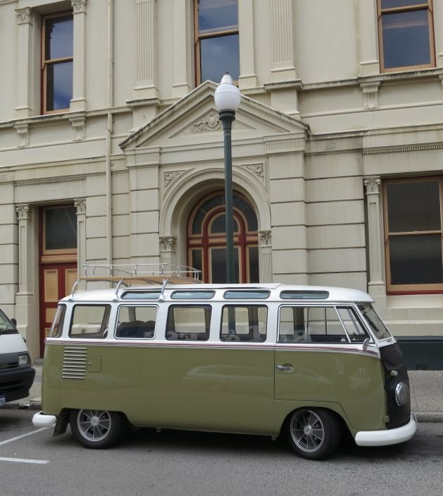 fighting for sanity in your city - sort of - A Beautiful City - Unusual Volkswagen Kombi on William Street, Fremantle, Australia