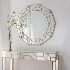 Celeste Gold Trim Mirror 105 x 100cm