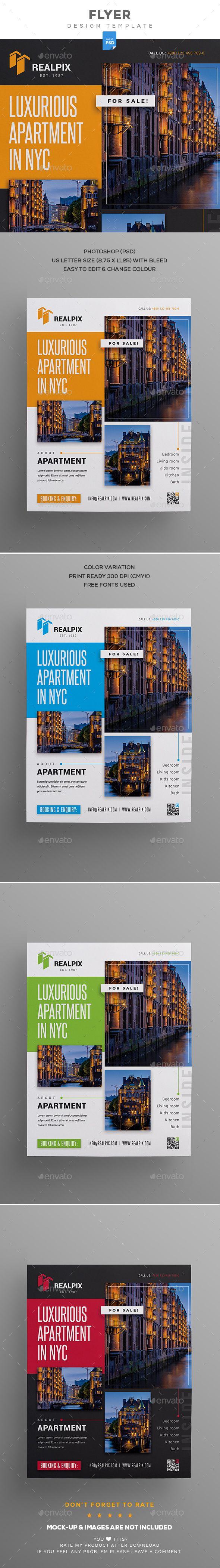 Real Estate #Flyer - Commerce Flyers Download Here:   https://graphicriver.net/item/real-estate-flyer/20120955?ref=suz_562geid