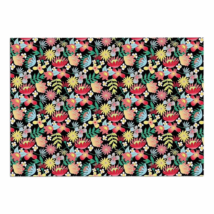 KESS InHouse Dlkg Design 'Flower Power' Gold Black Dog Place Mat, 13' x 18' ** Quickly view this special dog product, click the image : Dog food container