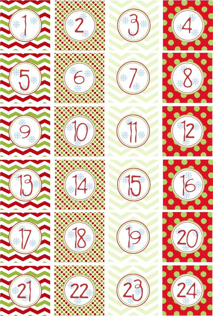Mas Calendarios de Adviento y las etiquetas para hacerlos | Mary Mary Sweet Designs